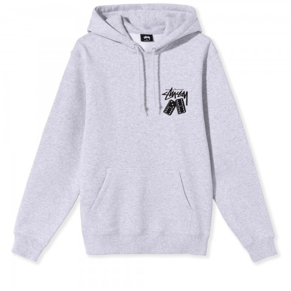 Stussy Dominoes Pullover Hooded Sweatshirt (Ash Heather)