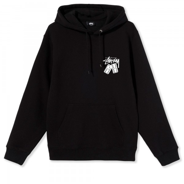 Stussy Dominoes Pullover Hooded Sweatshirt (Black)