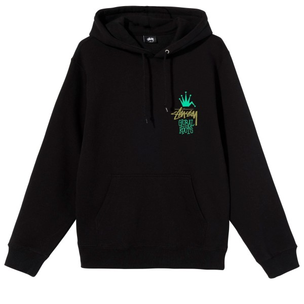 Stussy Global Roots Pullover Hooded Sweatshirt (Black)