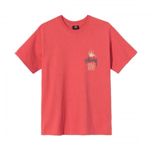 Stussy Global Roots T-Shirt (Pale Red)