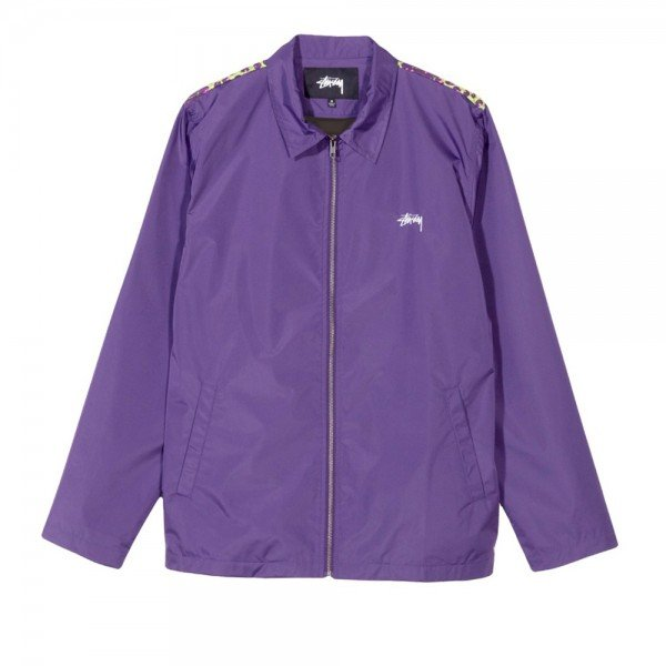 Stussy Leopard Panel Jacket (Purple)