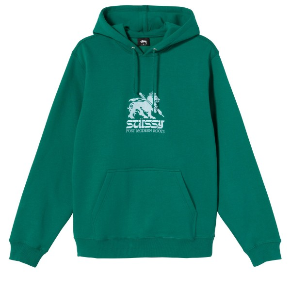 Stussy Lion Applique Pullover Hooded Sweatshirt (Green)