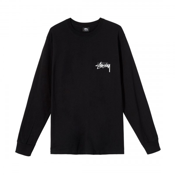Stussy Ocular Long Sleeve T-Shirt (Black)