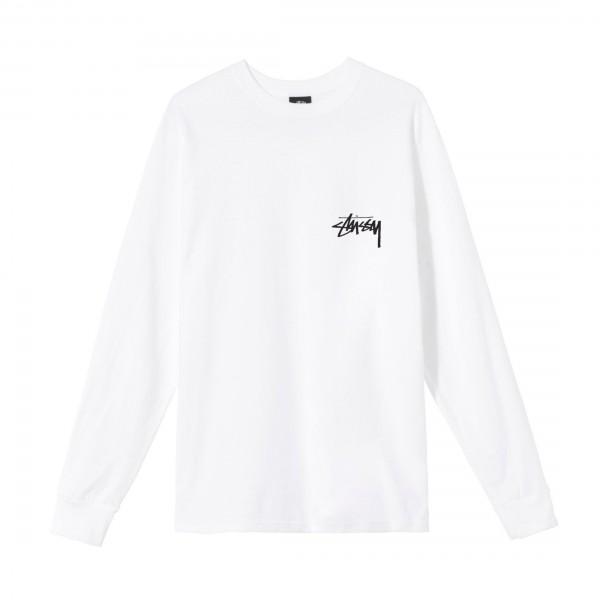 Stussy Ocular Long Sleeve T-Shirt (White)