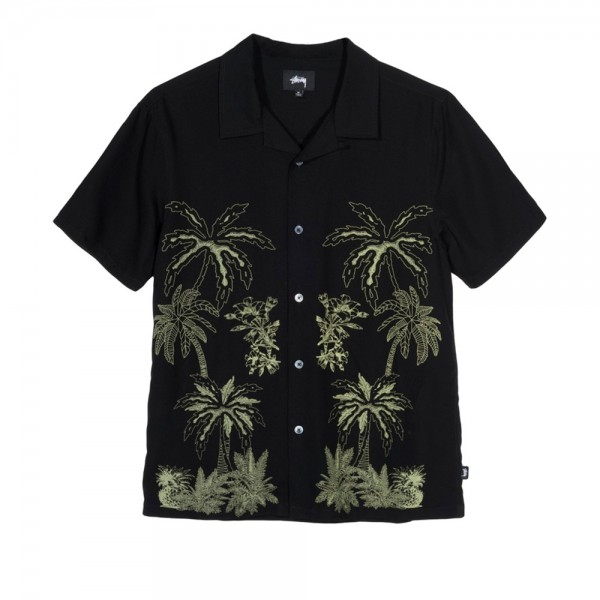 Stussy Palm Tree Shirt (Black)
