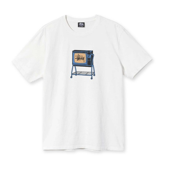 Stussy Rolling TV Pigment Dyed T-Shirt (Natural)