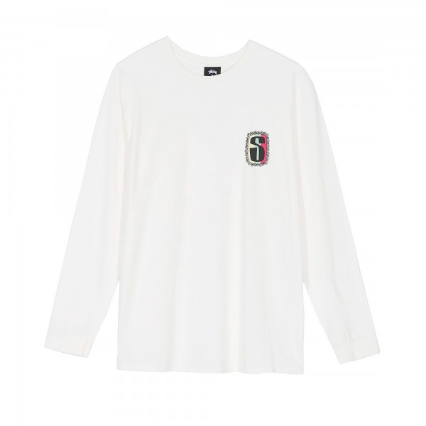Stussy S Frame Pigment Dyed Long Sleeve T-Shirt (Natural)