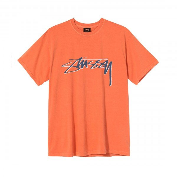 Stussy Smooth Stock Pigment Dyed T-Shirt (Orange)