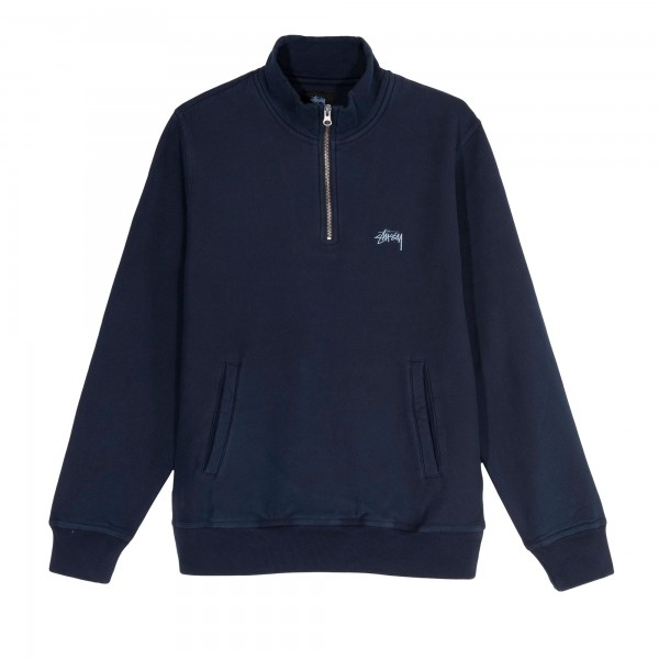 Stussy Stock Fleece Mock Neck Sweatshirt (Navy)