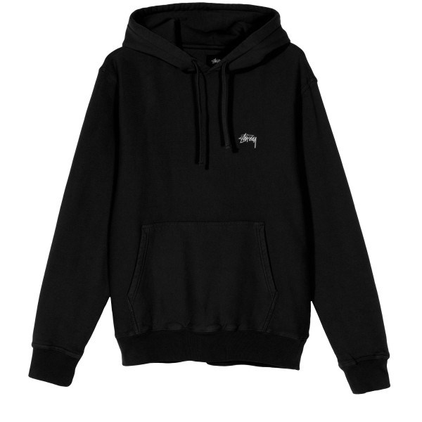 Stussy Stock Logo Pullover Hooded Sweatshirt (Black)
