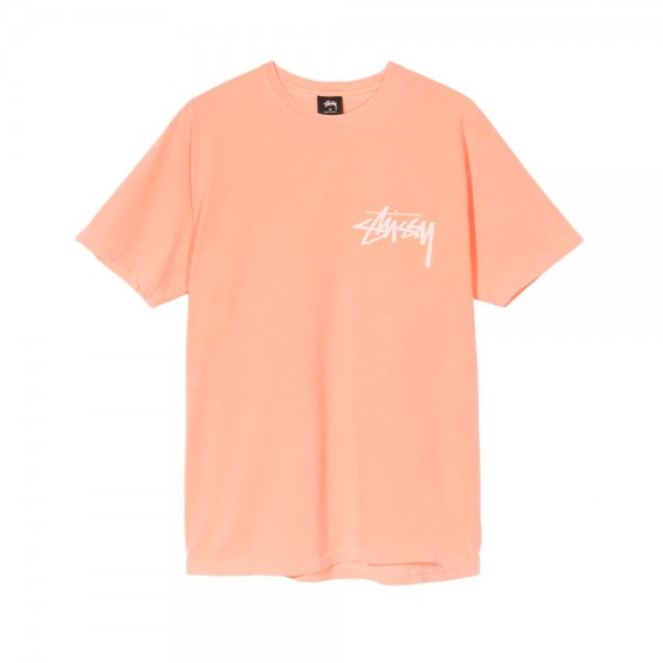 Stussy Stock Pigment Dyed T-Shirt (Coral)