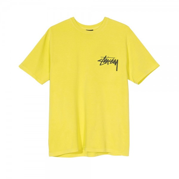 Stussy Stock Pigment Dyed T-Shirt (Lime)