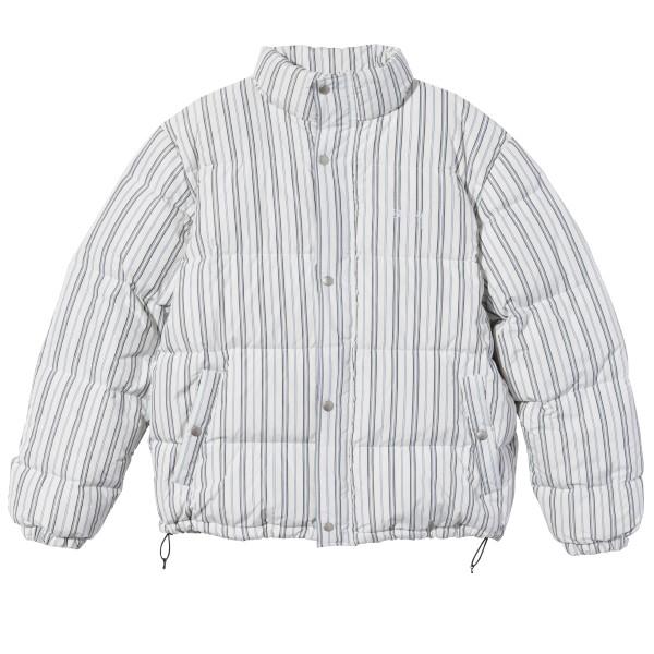 Stussy Stripe Down Puffer Jacket (Bone)