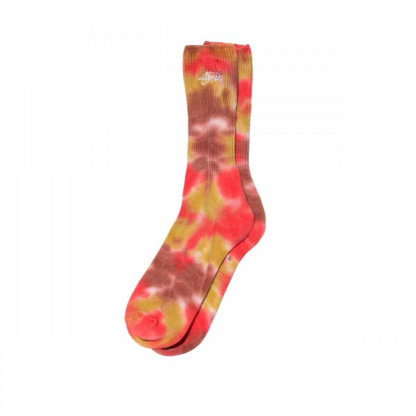 Stussy Tie Dye Socks (Orange)