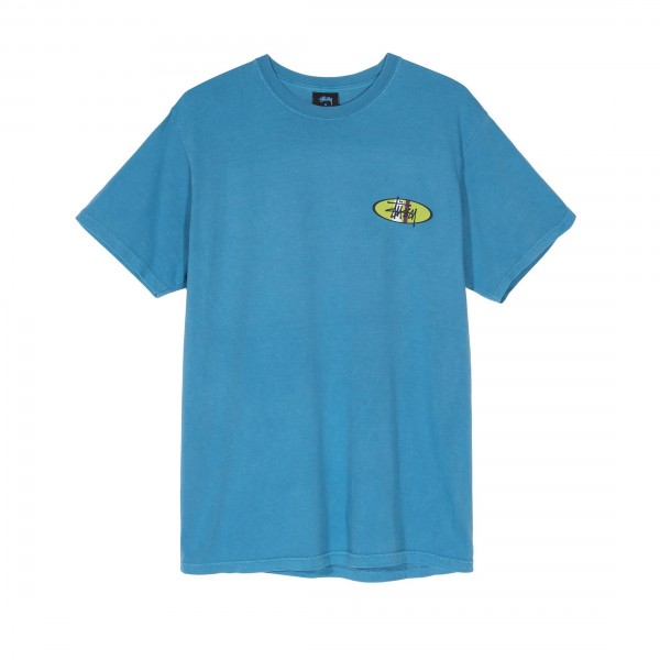 Stussy Two Bar Oval T-Shirt (Blue)