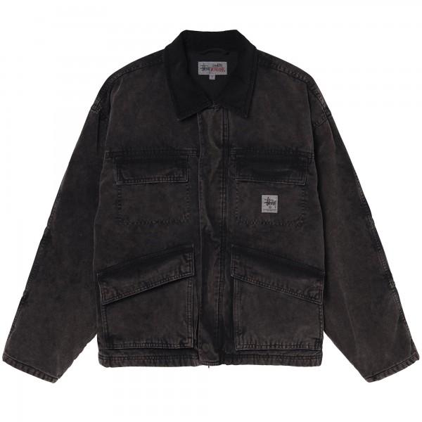 Stussy Washed Canvas Shop Jacket (Black)