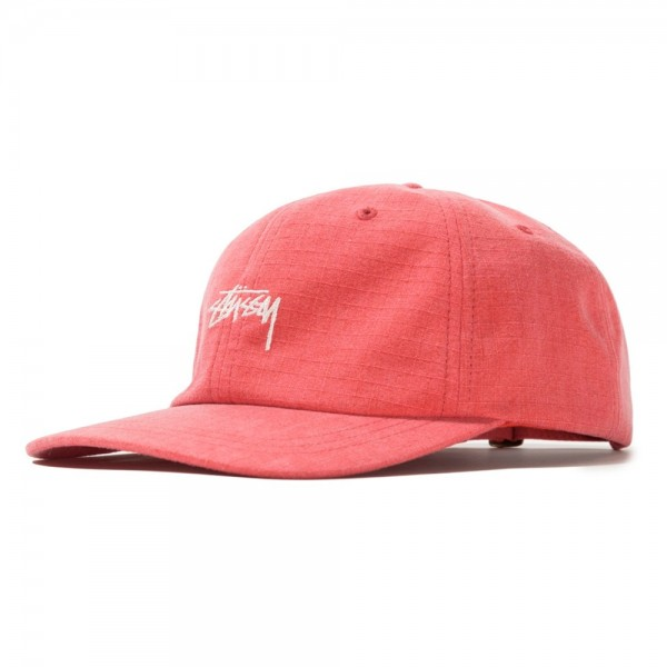 Stussy Washed Ripstop Low Pro Cap (Red)