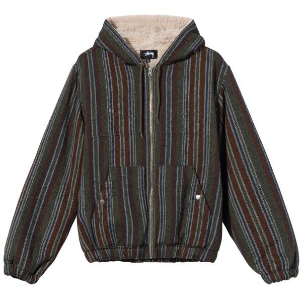 Stussy Wool Stripe Work Jacket (Olive)