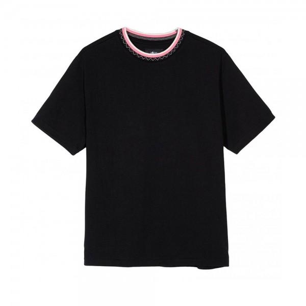 Stussy Zig Zag Crew T-Shirt (Black)
