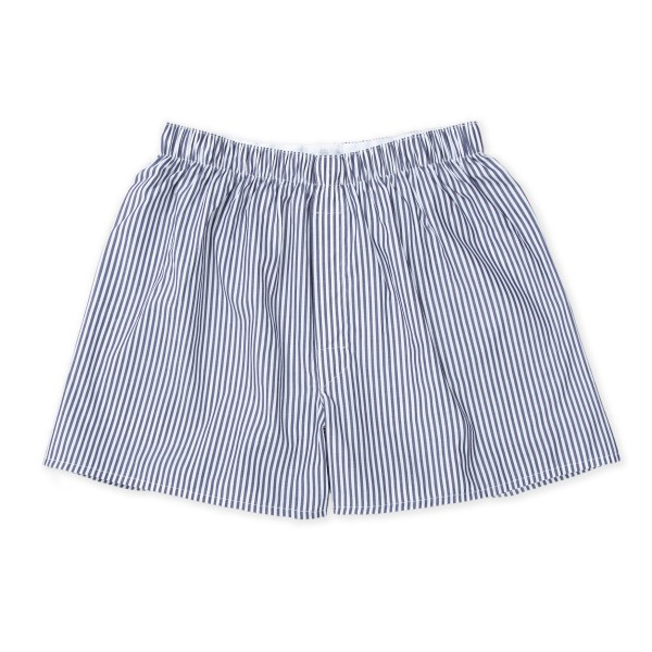 Sunspel Classic Boxer Short (Navy Bengal)
