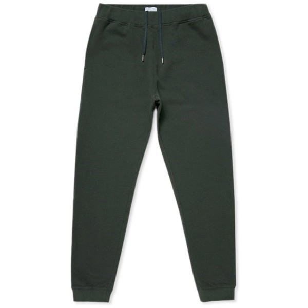 Sunspel Cotton Loopback Track Pant (Forest)
