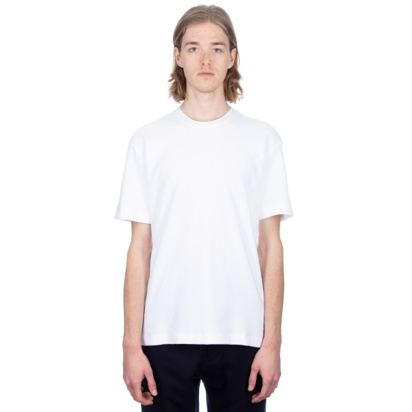 Sunspel Cotton Towelling Relaxed Fit T-Shirt (White)