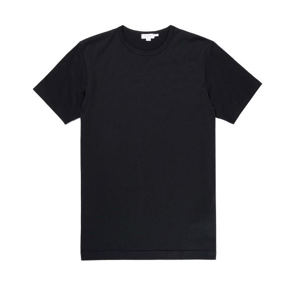 Sunspel Crew Neck T-Shirt (Black)