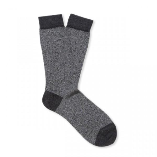 Sunspel Organic Cotton Sock (Grey Marl)