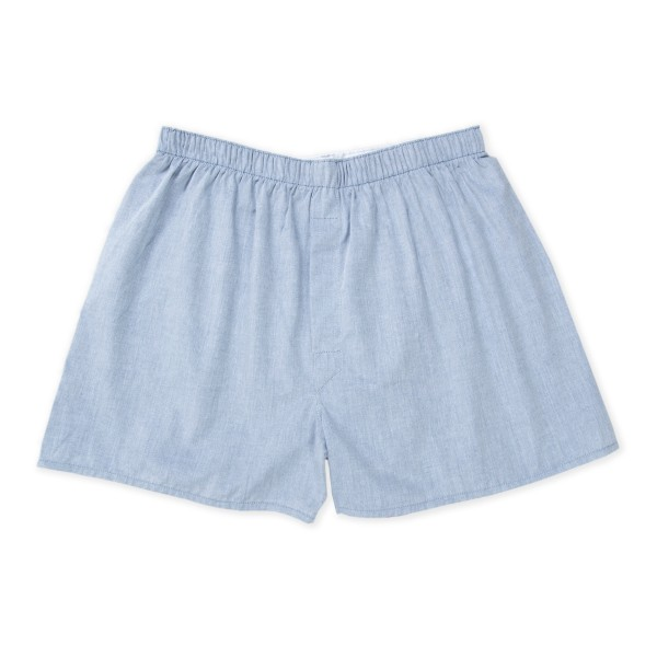 Sunspel Plain Boxer Short (Blueberry)