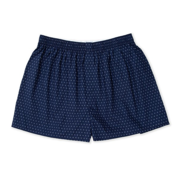 Sunspel Printed Boxer Short (Navy Circle)
