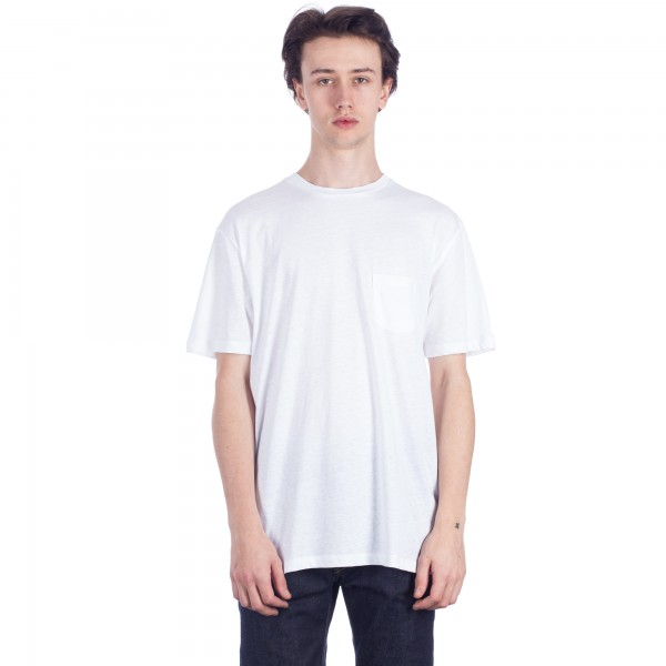 Sunspel Relaxed Fit Pocket T-Shirt (White)