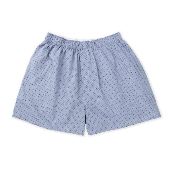 Sunspel Seasonal Boxer Short (Chambray Dot Dusk)