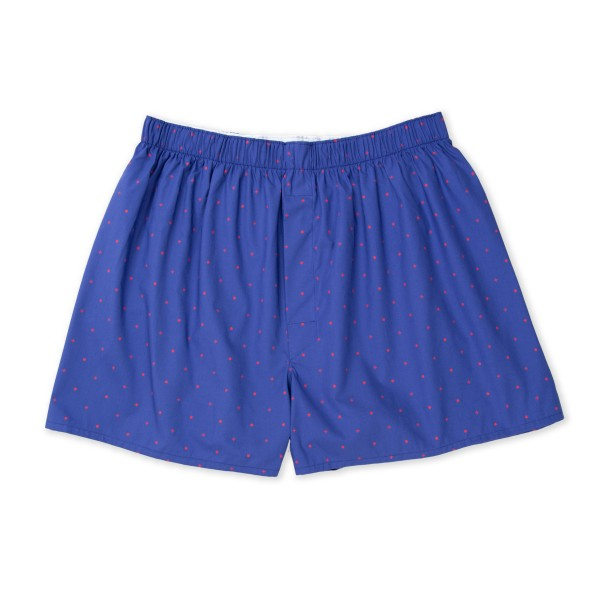 Sunspel Seasonal Boxer Short (Dots & Crosses Navy)
