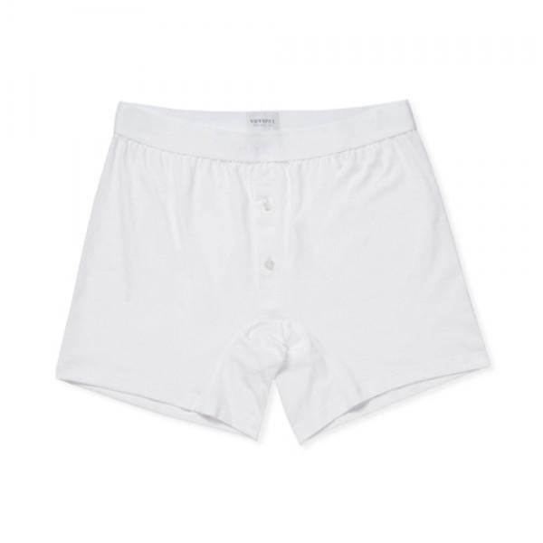 Sunspel Superfine Cotton Two-Button Shorts (White)