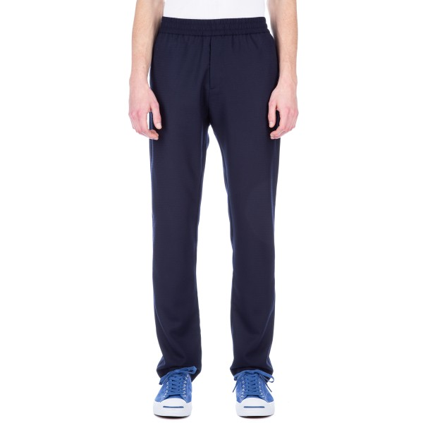 Sunspel Tropical Wool Drawstring Trouser (Navy)