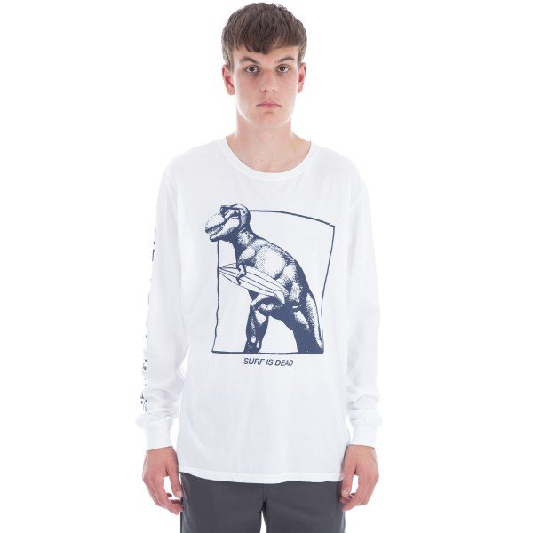 Surf Is Dead Really Dead Long Sleeve T-Shirt (White)