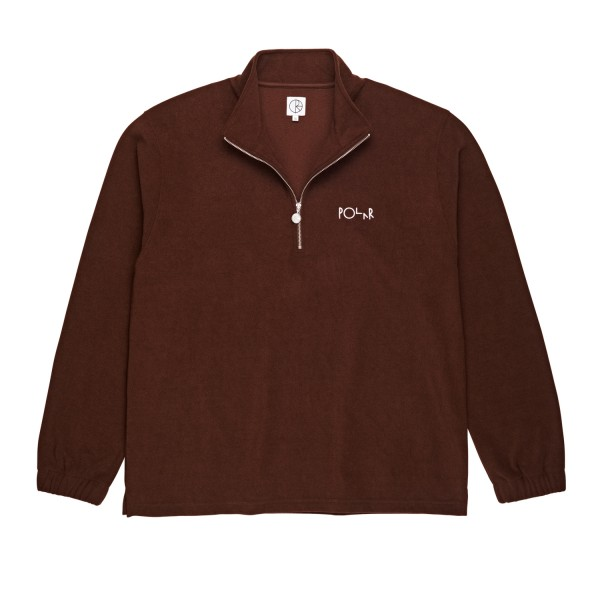 Polar Skate Co. Terry Zip Mockneck (Brown)