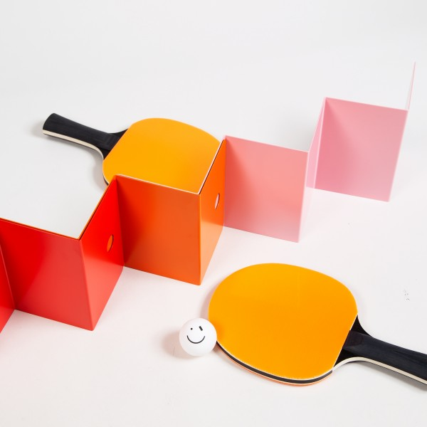 The Art of Ping Pong ZigZag ArtNet with Bats (Sunset)