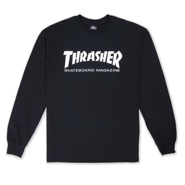 Thrasher Logo Long Sleeve T-Shirt (Black/White)