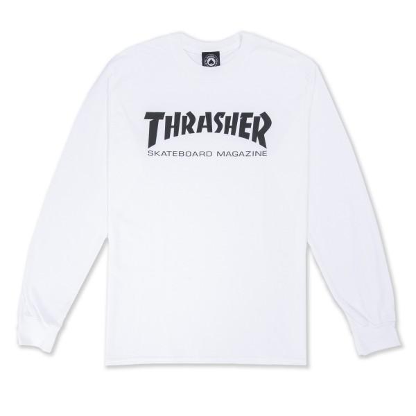 Thrasher Logo Long Sleeve T-Shirt (White/Black)