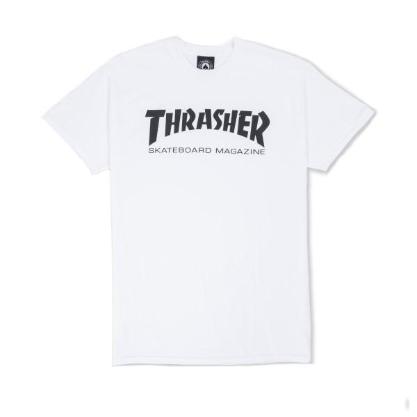 Thrasher Logo T-Shirt (White/Black)