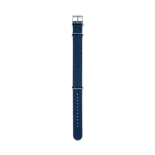 Timex Archive Denim Stone Washed NATO Watch Strap (Blue)