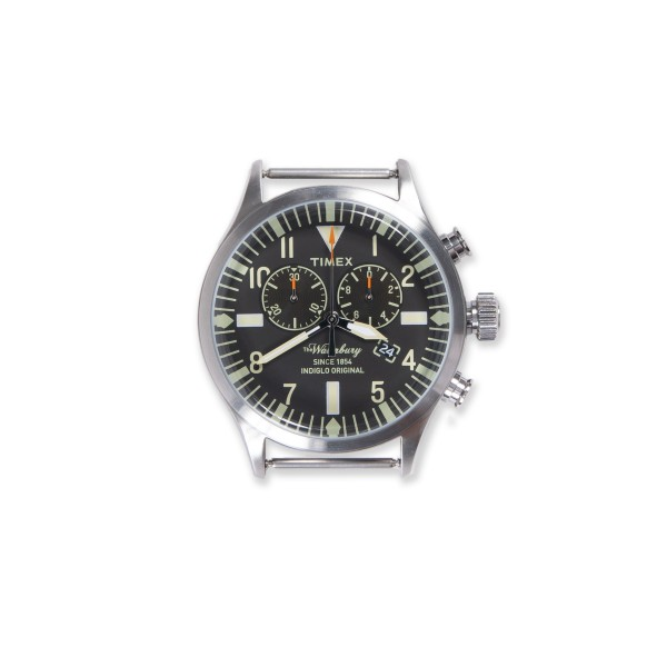 Timex Archive Waterbury Chrono Watch Head (Stainless Steel/Black Dial)