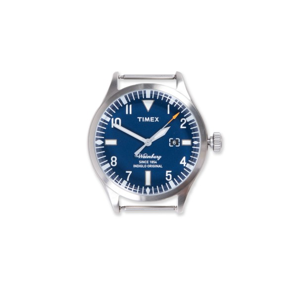 Timex Archive Waterbury Date Watch Head (Stainless Steel/Blue Dial)