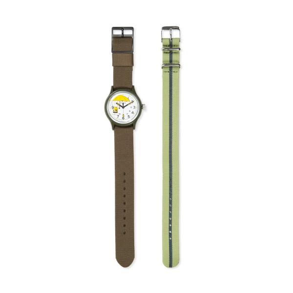 Timex MK1 x Peanuts Featuring Charlie Brown 36mm Fabric Strap Watch Box Set (Green/White)