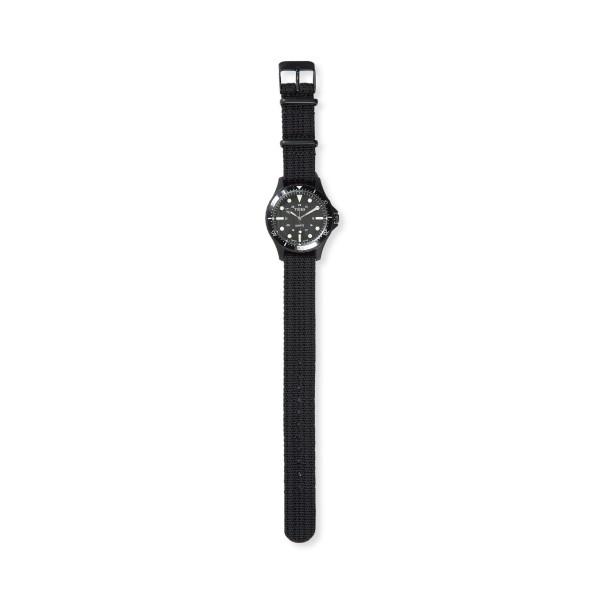 Timex Navi World Time 38mm with Fabric Strap Watch (Black/Black)
