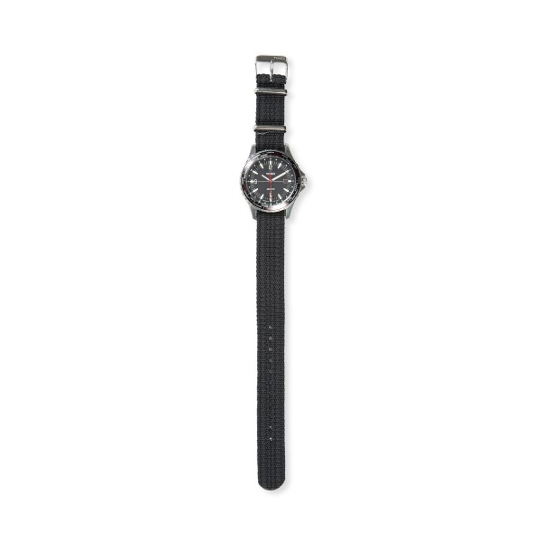 Timex Navi World Time 38mm with Fabric Strap Watch (Stainless Steel/Black)