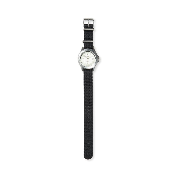 Timex Navi World Time 38mm with Fabric Strap Watch (Stainless Steel/Cream)