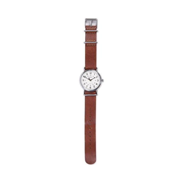 Timex Weekender 40 Watch (Cream/Dark Brown)