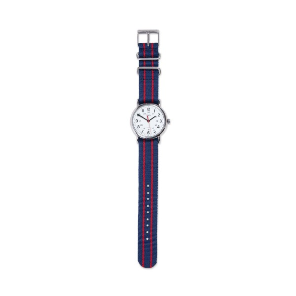 Timex Weekender Slip Thru Watch (White/Red/Blue)
